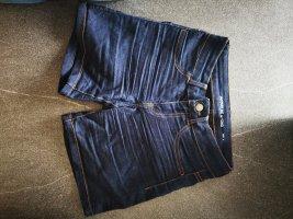 Jacqueline de Yong Pantaloncino di jeans blu-blu scuro