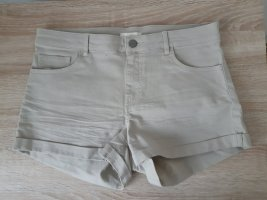 Jeansshorts beige
