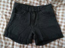 Vero Moda Pantalón corto de tela vaquera negro-gris antracita