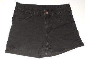 Pantalón corto de tela vaquera negro