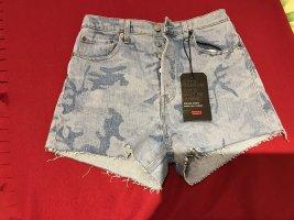 Levi's Pantalón corto de tela vaquera azul celeste-azul acero