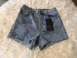 Levi's Jeansowe szorty stalowy niebieski-chabrowy