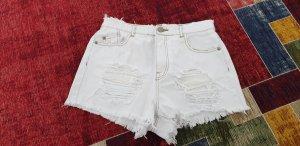 Missguided Denim Shorts white