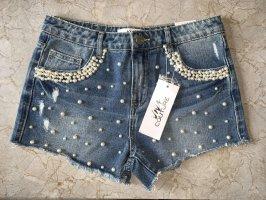 Viva Couture Pantaloncino di jeans multicolore