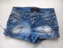 Jeansshorts mit Schnürung |Gr. XS