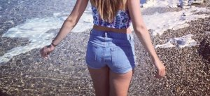 American Apparel Shorts blue
