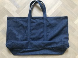 ARKET Sac en toile bleu acier-bleu foncé coton
