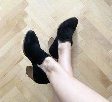 Jeffrey Campbell Echtleder Ankle Boots Stiefel Absatz schwarz 38 NEU