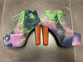 Jeffrey Campbell Platform Booties multicolored