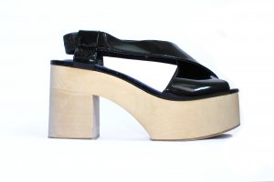 Jeffrey Campbell Wedge Pumps black-beige leather