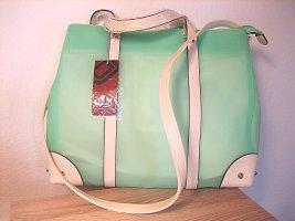 Jellybag Handtasche Shopper Beach Bag grün/offwhite NEU