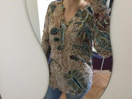 Jennifer Taylor Blusa brillante beige-blu fiordaliso