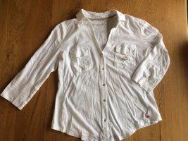 Jersey Bluse mit V Ausschnitt