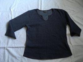 T-shirt donkerblauw-karmijn