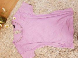 Jersey T-shirt/bluse mit U-Ausschnitt und kurz Ärmeln massimo dutti Gr S/M