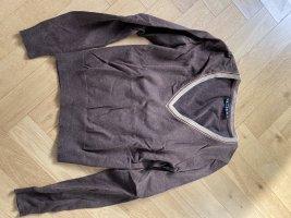 Jette Joop Jersey con cuello de pico marrón grisáceo Algodón
