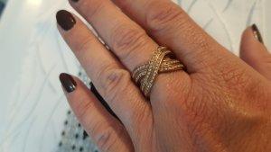 Jette Bague incrustée de pierres doré