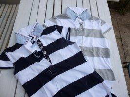 Jette Poloshirt Gr. 38 Blau-Weiß