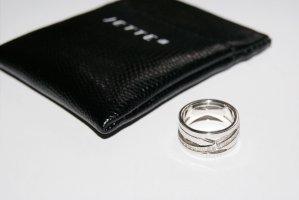 Jette Silver Ring im schicken Design (925er Silber, Zirkonia-Steinchen) - NEU mit Original-Schmucketui!!