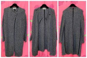 81hours Manteau en tricot noir-blanc