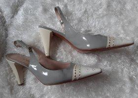 jil poco Décolleté modello chanel grigio chiaro-crema