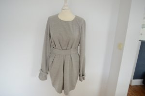JIL SANDER Oberteil/Minikleid mit Gürtel 40 kurzes Kleid hellgrau meliert