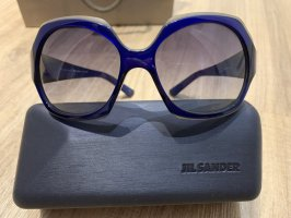 Jil Sander Angular Shaped Sunglasses blue-dark blue