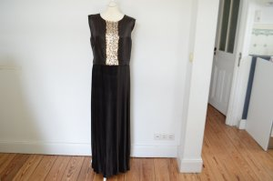 JIL SANDER UVP 1200,00 € High Society Abendkleid NEU! 36 braun gold Kleid