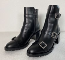 Jimmy Choo, Hank 65 Jewel Buckle Boots, Leder, Schwarz, 40, neu, € 1.200,-