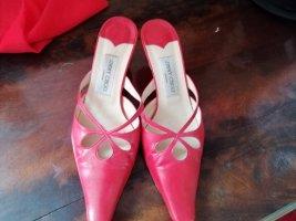 Jimmy Choo Heel Pantolettes red-brick red