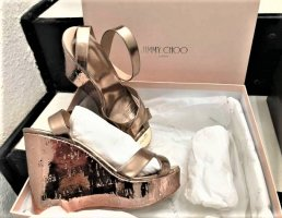 Jimmy Choo Papyros nude mirror leather
