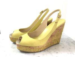 Jimmy Choo Plateauzool sandalen geel