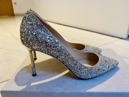 Jimmy Choo Classic Court Shoe silver-colored-gold-colored