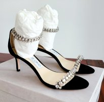 Jimmy Choo Strapped High-Heeled Sandals black-silver-colored