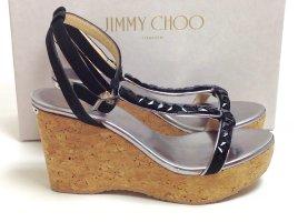 Jimmy Choo Platform High-Heeled Sandal black leather