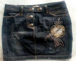 John Galliano Miniskirt black-silver-colored
