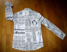 JOHN GALLIANO Newspaper Gazette Hemd Bluse