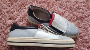 Jones Leder Sneakers halbschuhe 37 prada rot grau weiss