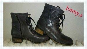Görtz Shoes Bottines à lacets gris foncé-gris cuir