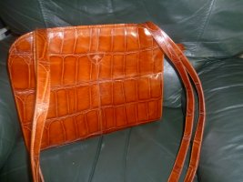 GALERIA DESIGN by Wolfgang Joop Briefcase cognac-coloured leather