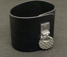 Joop! - Cooles breites Lederarmband mit 925 Sterling Silber Spange