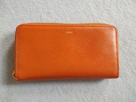 Joop! Gelbeutel Leder orange groß