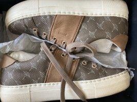 Joop! Grau Schuhe Platform Plateau Sneaker dafne Joop taupe logo Print 37