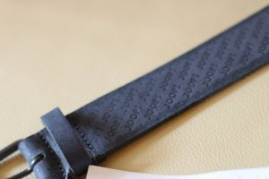 Joop! Leather Belt dark blue leather