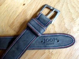 Joop! Jeans Leather Belt grey brown leather