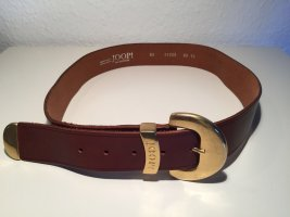 Joop! Cintura di pelle marrone-oro