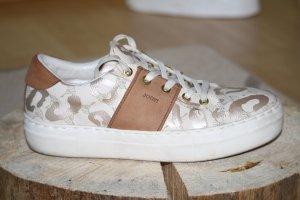 JOOP! Low Sneaker Leder 39 weiß bronze braun