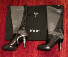 Joop! Platform Boots black-silver-colored leather