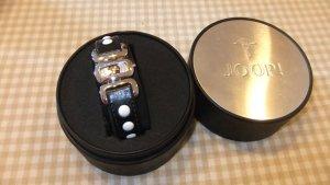 Joop! Reloj con pulsera de cuero negro-blanco Cuero