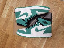 Air Jordan High Top Sneaker white-green